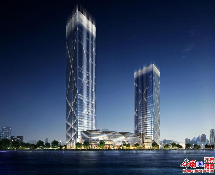 02吴江滨湖恒力中心_双塔方案2A