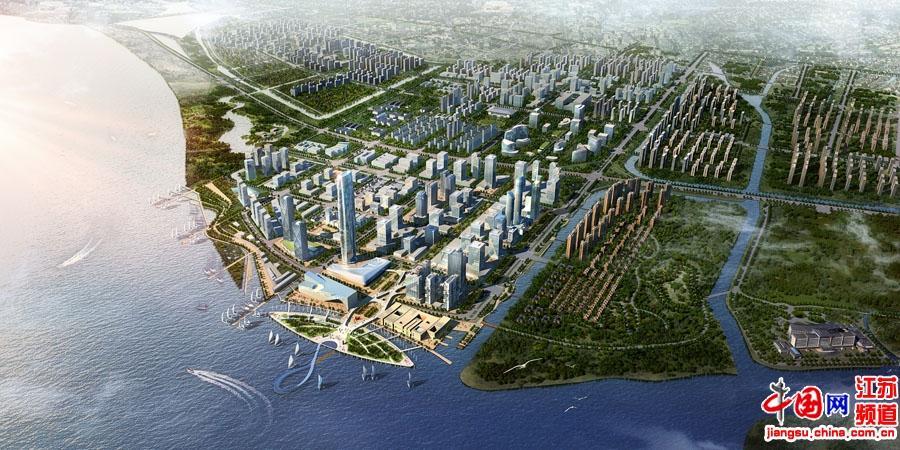 吴江滨湖新城鸟瞰图