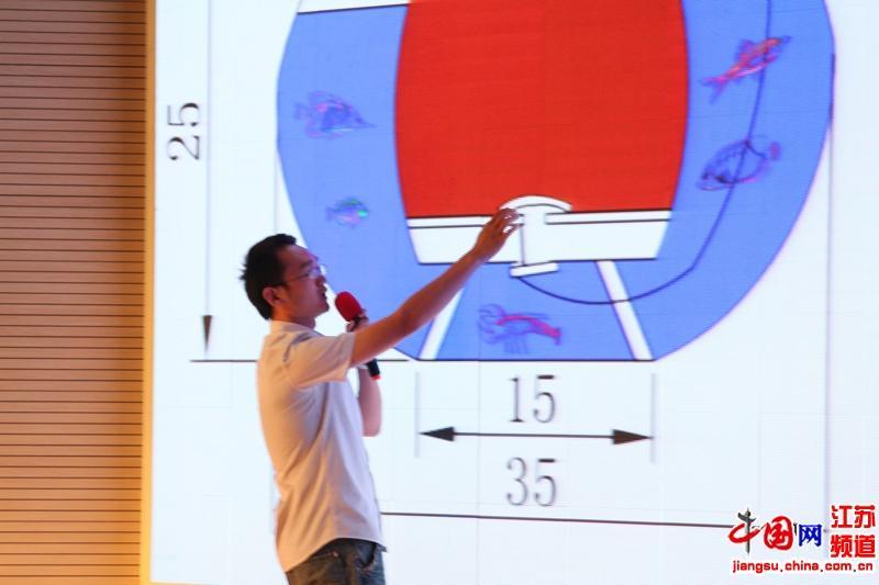 翁李胜介绍养鱼与种花一体节水装置构造