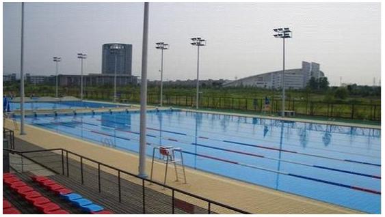 河海大学泳池恒温热泵热水工程