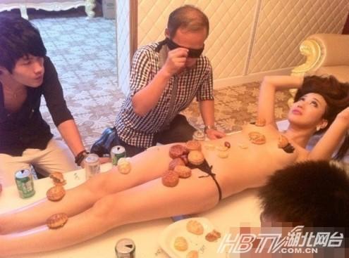 长春惊现女体盛宴 盘点人体盛宴另类文化组图