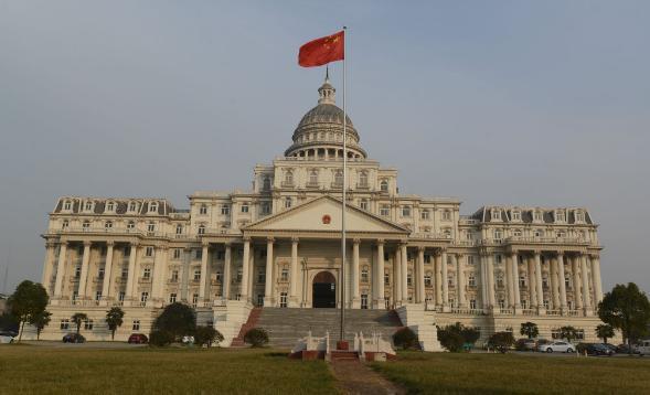 阜阳安徽一白宫v白宫大楼似单面造型外装修花费超1500土建政府吊顶斜坡图片