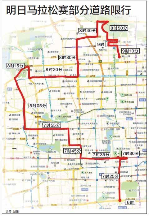 明日北京马拉松赛将交通管控