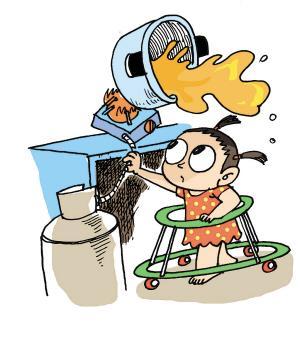 3岁女童掉开水锅 烫伤面积达60%提醒:烫伤后尽快冲凉水