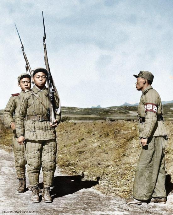 罕见:彩色老照片里的朝鲜战争