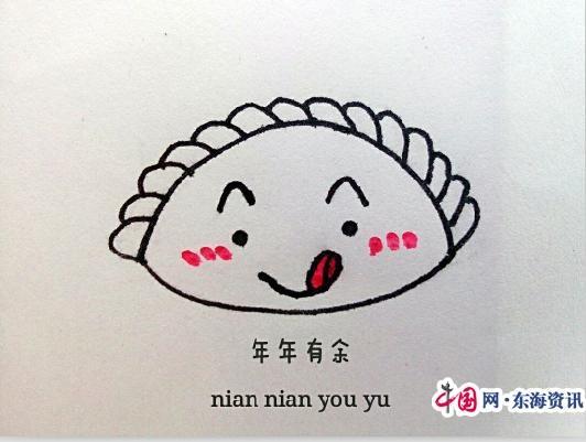 扬大儿童手绘1表情爆破图鬼才搞笑版emoji饺子学子萌萌传祝图片