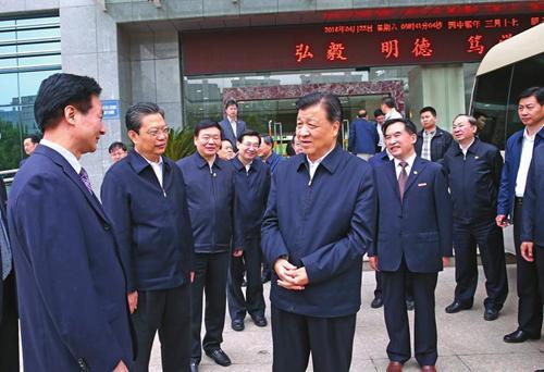 刘云山来到长安大学渭水校区调研  安康,深入农村、乡镇、企业、高