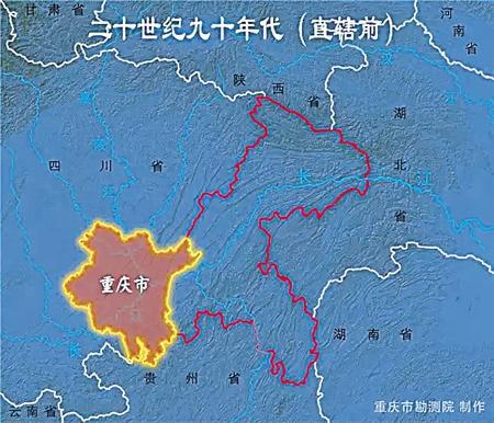 直辖前涪陵市地图