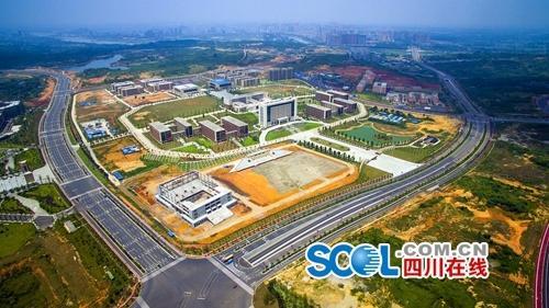 位于岷江东岸的岷东新区,是天府新区和成都经济圈的重要组成部分.图片