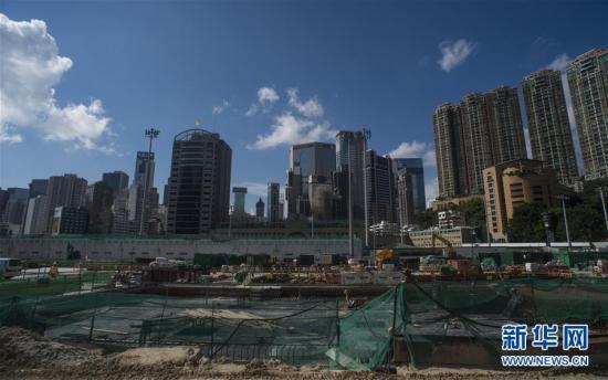 兴建排水工程的跑马地游乐场(7月23日摄).-香港跑马场地下的 秘密