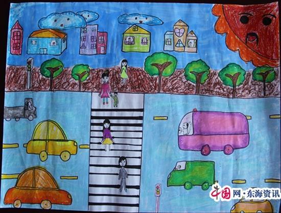 淮安市交警三大队组织学生创作童谣童画开展文明交通宣传
