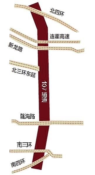 郑州107辅道高架与北三环年底前有望互通