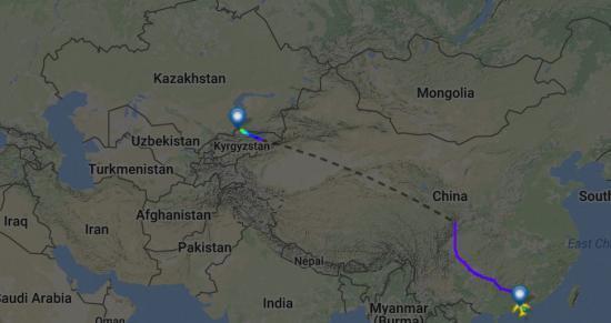 图为飞机飞行线路图