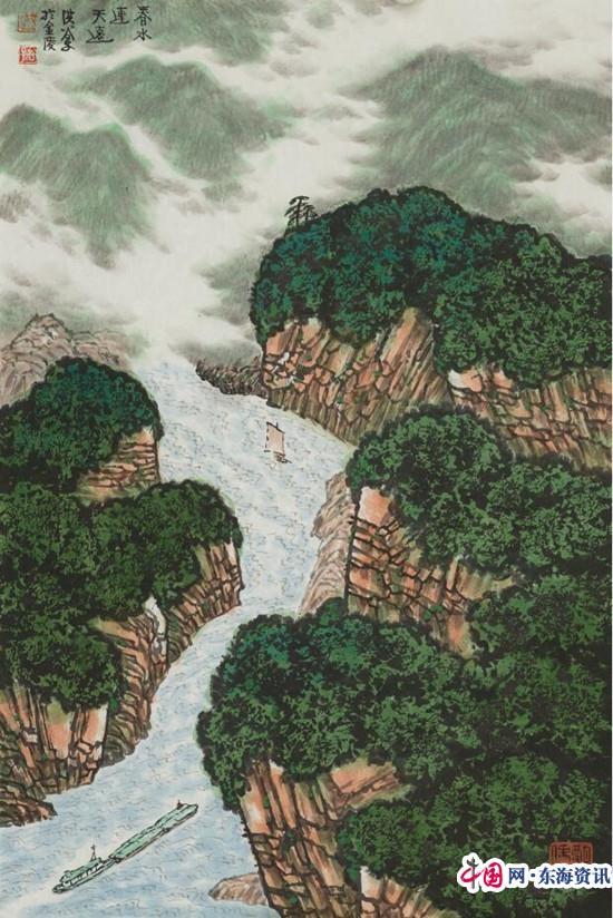 欧式抽象山水画