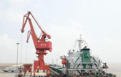 盐城射阳港进靠国际航线船舶
