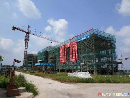 南京国际物流港综合楼封顶可提供一体化服务