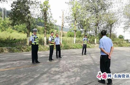 福泉交警大队陈友平教导员围绕