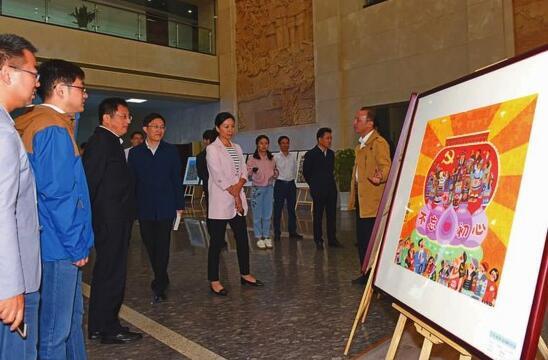 首届全国廉政农民画作品展巡展在盐城举行