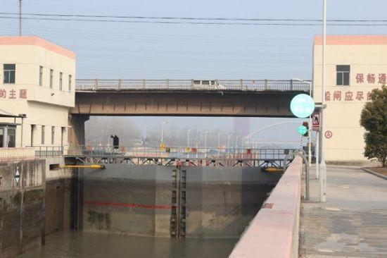 京杭运河解台船闸公路桥即将拆除重建