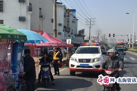靖江公路站路政保畅服务孤山庙会