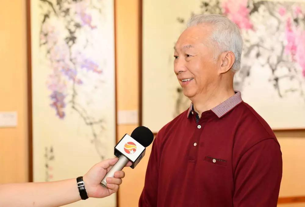 李俊花鸟画作品展在无锡灵山梵宫举行