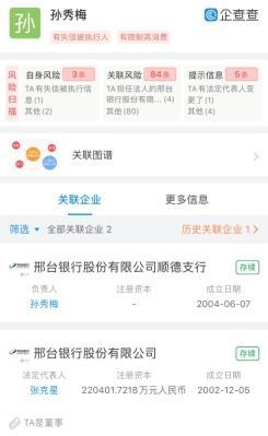 """邢台银行一支行行长成""""老赖"""" 其担任董事已近三年"""