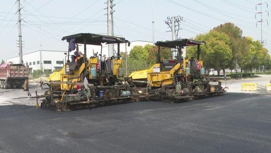 今年,姜堰城西这条主干道将完工通车